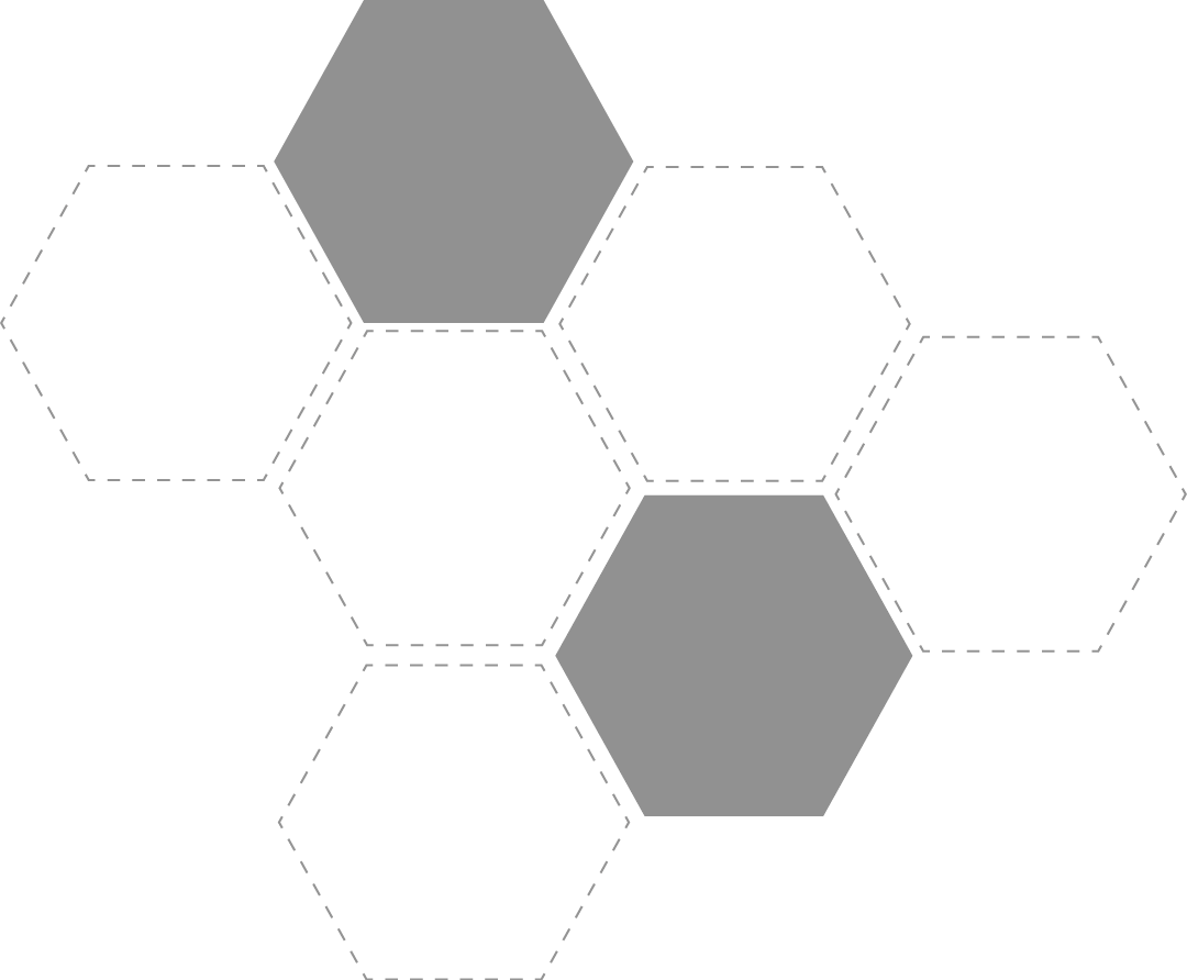 Grafik der Hexagone